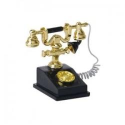 1/12-es babaház miniatűr retro telefon vintage telefon G4E1