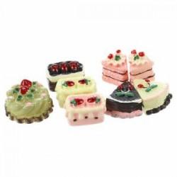 8 darabos válogatott ízesített csokoládé eper cseresznye pite miniatűr Cake f C5R2