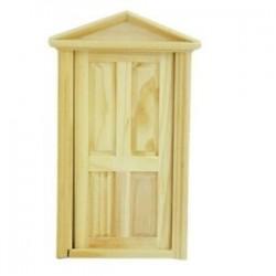 1/12 Dollhouse miniatűr külső, nyitott faajtó, Steeple W8P2 tetővel