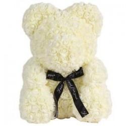 Tejfehér - Esküvői dekorációk Rose Bear Girlfriend évforduló karácsony Valentin R5P5
