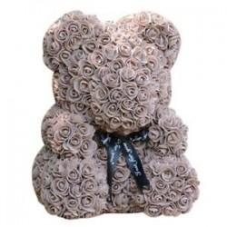Barna - Esküvői dekorációk Rose Bear Girlfriend évforduló karácsony Valentin R5P5