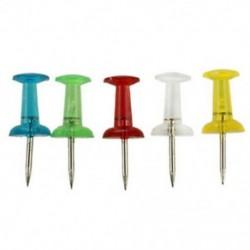 1X (50 db home 5 színű műanyag top levélpapír térkép nyomógombok Tacks D5Z4)