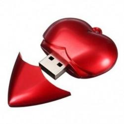 USB Stick Memory Stick 2.0 16 GB-os szív alakú I2M6
