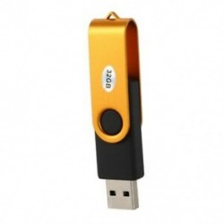 32 GB-os arany elforgatható USB 2.0 Flash memória meghajtó-tároló hüvelykujj toll U C1A2