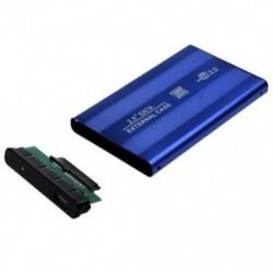 USB 2.0 külső, 2,5 &quot -es IDE HDD tok, kék a T7M8 laptophoz