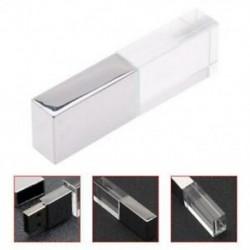 Kristály átlátszó led könnyű fém USB memória meghajtó Pen meghajtó 32 GB usb memo W6M9