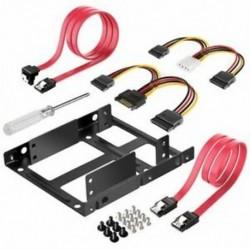 2x 2,5 hüvelykes SSD - 3,5 hüvelykes belső merevlemez-meghajtó szerelőkészlet tartó (C1N8
