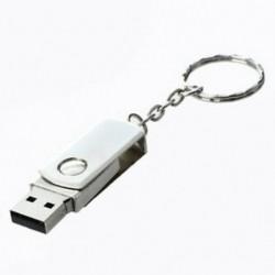 64 GB-os USB 2.0 memóriakártya Flash tollmeghajtó tároló ezüst hangú kulcstartó N4Y4