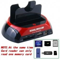 2,5 hüvelykes HDD dokkoló állomás 3,5 hüvelykes IDE SATA Dual USB 2.0 Clone Hard Driv Q7H3