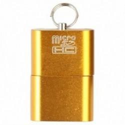 1X (Alumínium USB 2.0 hordozható memóriakártya-olvasó adapter Micro-SD kártya / Y7Z5 számára