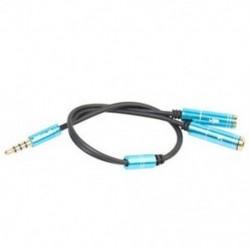 1X (REXLIS 3,5 mm-es kombinált audio adapterkábel PS4-hez, Xbox One S-hez, táblagéphez, mobil A7A4-hez