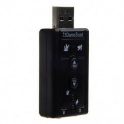 2X (7.1 csatornás USB külső hangkártya audio adapter U4B6)
