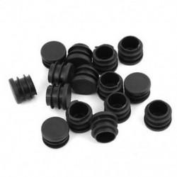 15db fekete, 19 mm átmérőjű, kerek műanyag lezáró végsapka, csővezeték-betét W9M7