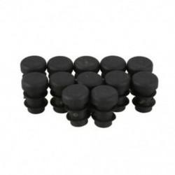 12 db műanyag 12 mm-es csővédő sapkák Bung Cube betét dugó kerek Blac V9V3
