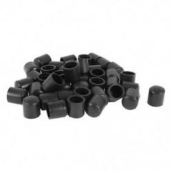 1X (gumibetét 40 darabos fekete gumi csővégek, 10 mm-es kerek I1G3)