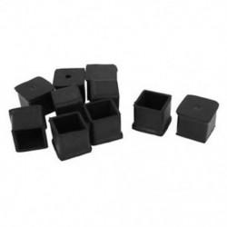 10 db 30x30 mm-es négyszögletes gumi asztali szék lábszárvédő tartóvédő Blac R7J6