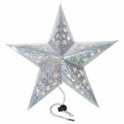 Pentagram ötcsillagos papír lámpa lógó díszek karácsonyi esküvői karácsony M9C3
