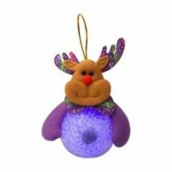 1X (1Piece hóember fényes Mikulás többszínű karácsonyi dekoráció W6C1)