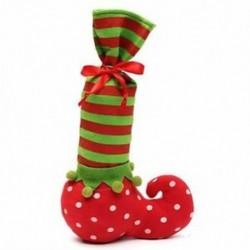 Karácsonyi manó cukorka táska Santa cukorka zokni Elf üveg táska borosüveg Wrap R1J1