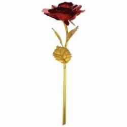 Rózsa Valentin napi ajándék Arany Rózsa virág kis medve piros I8Z7