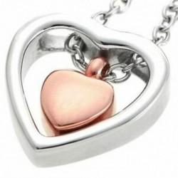 3X (kettős szív rózsa arany hamvasztás Urn nyaklánc medál tölcsér kit kit Ke C3S1