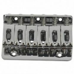 2X (ezüst 6 húros rögzített kemény farok gitár híd farokdarab 65 mm D4R8-hoz