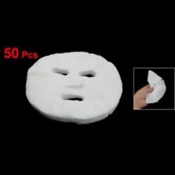 1X (SODIAL (R) 50 db fehér kozmetikai megnövelt pamut arcmaszk lap La C5E6-hoz