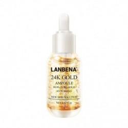 LANBENA 24K arany kollagén szérum arckrém-esszencia öregedésgátló ráncához L H7P2