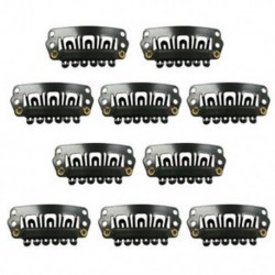 Fekete Snap klipek 10 db U-alakú fém klipek hajhosszabbításhoz DIY L4V4 G2Q0