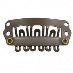 10 db barna Snap klipek U-alakú fém klipek a hajhosszabbításhoz DIY S2U1