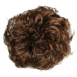 Női hajhullás Scrunchie zsemlehosszabbítások Göndör lófarok hajcsavar M3I2