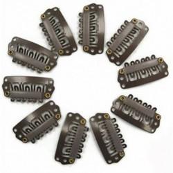 2x (10db barna Snap klipek U alakú fém klipek hajhosszabbításhoz DIY Q3R8 F6P5