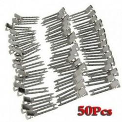 Kb. 50 db dupla vastag fém aligátor klipek haj íjak - ezüst J0M4