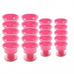 1X (20 darabos rózsaszínű varázslatos hajtekercs nincs klip nélkül forró szilikon hajcsavarók profe K8S8