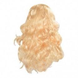Divatos női szőke szexi hosszú göndör haj paróka elegáns hullámos teljes paróka party Y1