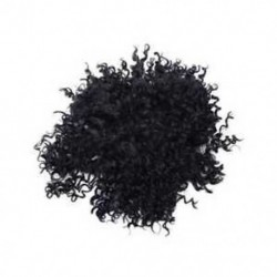 1X (rövid göndör csipke elülső emberi haj paróka fekete nőknek brazil haj BoD9A8)