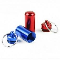 6db vízálló alumínium pirula doboz tok palack gyorsítótár gyógyszertartó kulcstartó Co X6I7