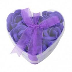 Rózsaszirom alakú szappan szelet egy doboz szívvel W4H8