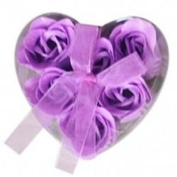 6 darabos lila fürdőkád zuhany rózsa szirom szappan Virágos szappan szappan P9S2