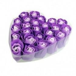 2X (24 db lila illatú fürdőszappan rózsaszirom az R4H1 szívdobozban)