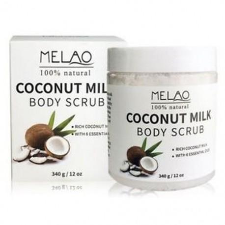 MELAO 340g / 12oz 100% természetes Arabica kókusztej testradír Holt-tengerrel N0R2