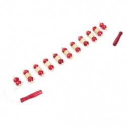 1X (Bézs Piros Fakerekes Test Visszatérő Kerekes Masszírozó N8B7)