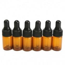 10db 3ml Üres barna üveg csepegtető palackok pipettával az W3B1 illóolajhoz