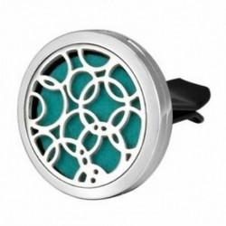 Autó légfrissítő aromaterápiás illóolaj diffúzor - üreges kör folt Y6N5