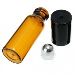 10 db 10 ml üvegfém acél gömbgörgő palackok Parfüm illóolaj V9Q6