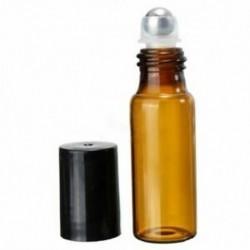 2X (10 db 5 ml-es üveg acél acél gömbgörgő palackok parfüm illóolajQTY W4E3