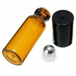 10 db 10 ml üvegfém acél gömbgörgő palackok parfüm illóolaj G3T3)