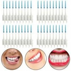 40 db fogak fogpiszkálói fogselyem szedők Interdentális kefecsíkkal Fog X2V2