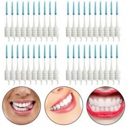 40 db fogak fogpiszkálói fogselyem szedők Interdentális kefetartó fog Tooth Cle T4W8