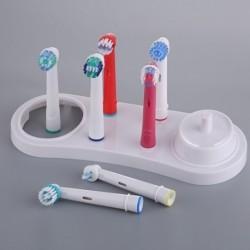 Elektromos fogkefék tartótartó támasz fehér fogkefefejekkel, O3Z7